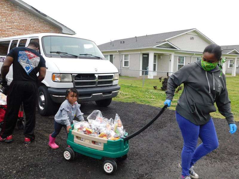 Brighter Futures Foundation feeding children, senior citizens